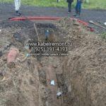 Очистка места для ремонта кабельной линии