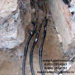 Пример работ по установке соединительных муфт на низковольтном кабеле. Перевод линии.